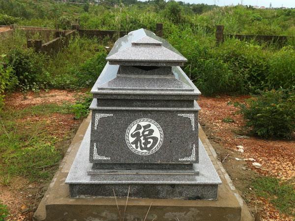 Thi công mộ đá granite tự nhiên