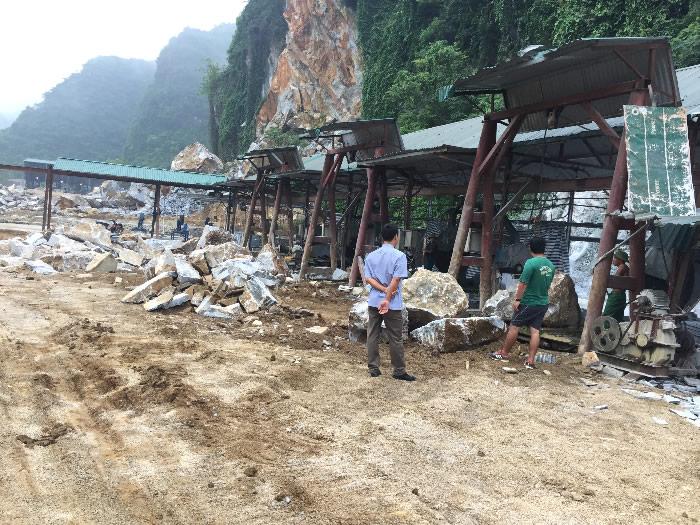 Xưởng đá tự nhiên tại Anh Sơn